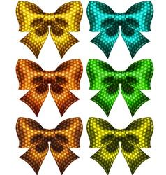 Holiday polka dot bow knots vector