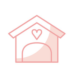 House with heart isolated icon vector