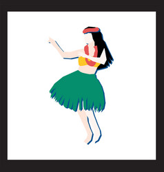 hula dancer abstract modern vector image