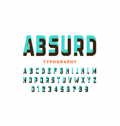 Impossible shape font design alphabet letters and vector