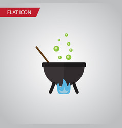 isolated cauldron flat icon magic element vector image