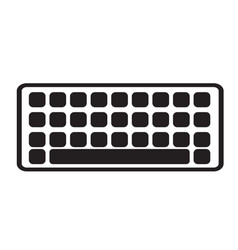 keyboard icon on white background keyboard sign vector image