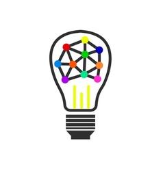 Light bulb logo vector