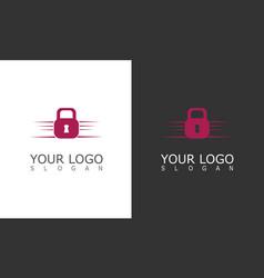 lock logo vector image