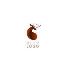logo sign with gradient deer animal vector image