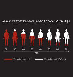 Male testosterone prodaction with age vector