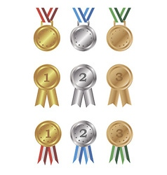 Medals and awards set vector image