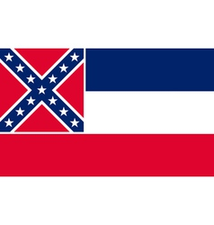 Mississippian state flag vector