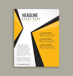 Modern business flyer brochure template vector