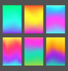 modern gradients smartphone screen backgrounds vector image