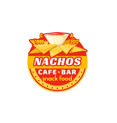nachos chips fast food cafe bar icon vector image vector image