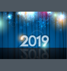 new year 2019 abstract background stage and blue vector image