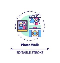 photo walk concept icon vector image