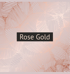 rose gold decorative pattern for design and vector image