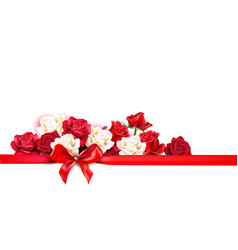 roses decoratin banner vector image