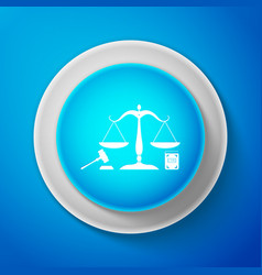 scales of justice gavel and book icon vector image