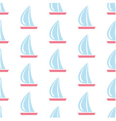 seamless pattern with sail boats on subtle vector image