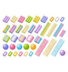 set bubble gums vector image