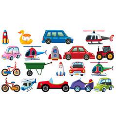 Set different types transportations vector