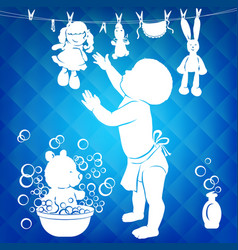 Silhouette bawipes toys vector