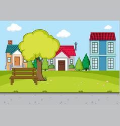 Simple rural village scene vector