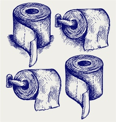 Simple toilet paper vector image