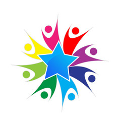 Star team logo vector