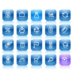 Stencil blue buttons for business vector image