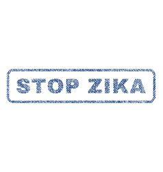 Stop zika textile stamp vector