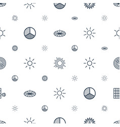 Sunlight icons pattern seamless white background vector