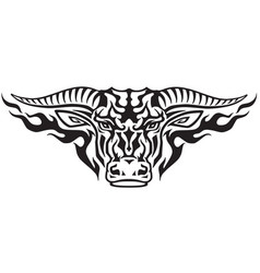 taurus tribal vector image