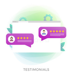 Testimonials flat icon isolated on white vector