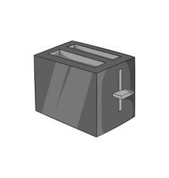 Toaster icon black monochrome style vector image