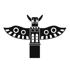 Traditional religious totem pole icon simple style vector