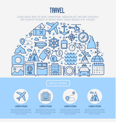 travel and vacation concept in half circle vector image