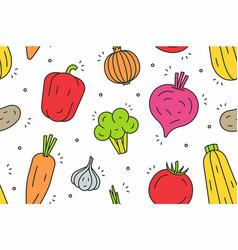 vegetables pattern vector image