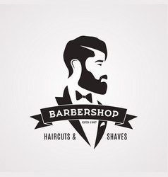 vintage barbershop design template gentleman vector image