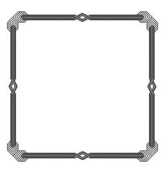 Vintage doodle border frame vector