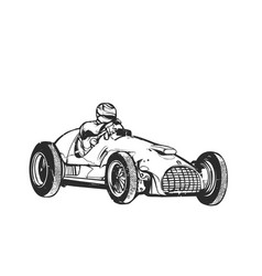 vintage sport racing car vector image