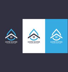 water home logo design vector image