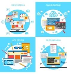Web Development Concept Icons Set vector