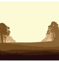 Wild coniferous forest vector