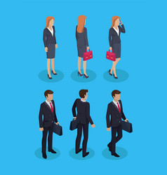 woman and businessman set vector image