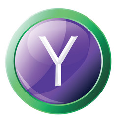 yahoo platform logo inside a green circle icon on vector image
