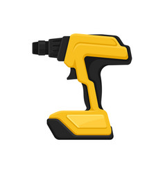 Yellow-black cordless drill power tool electric vector