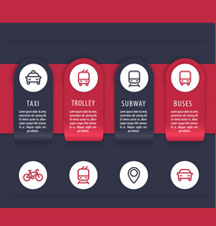 city transport infographics elements vector image vector image