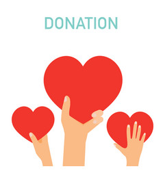 concept for charity medical donations internet vector image vector image