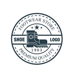 shoe logo footwear store premium quality estd vector image