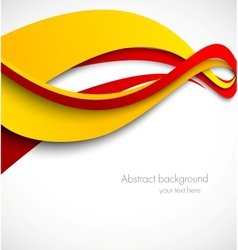 Abstract wavy background in orange and red colors vector image