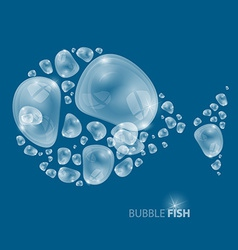 Bubble Fish on Blue Background vector image vector image